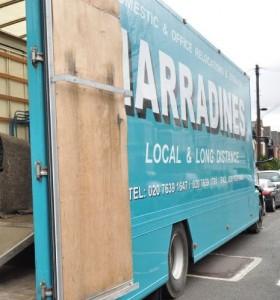 Harradines removals van
