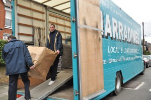 Removals company moving house