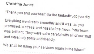 Testimonial for Harradines Removals